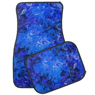 Wedding elegant blue vintage chic pattern car mat