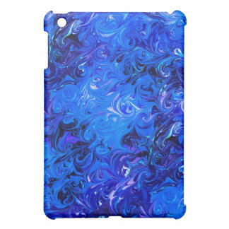 Wedding elegant blue vintage chic pattern case for the iPad mini