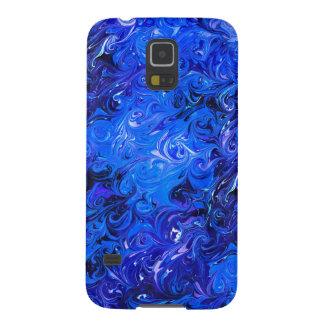 Wedding elegant blue vintage chic pattern galaxy s5 cases