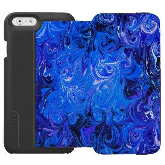 Wedding elegant blue vintage chic pattern incipio watson™ iPhone 6 wallet case
