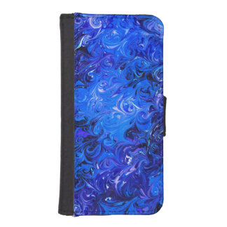 Wedding elegant blue vintage chic pattern iPhone SE/5/5s wallet case