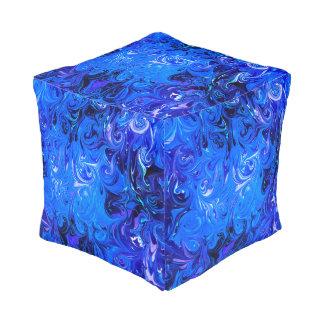 Wedding elegant blue vintage chic pattern pouf