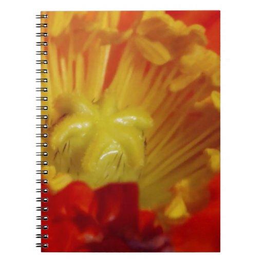 Wedding Engagement Gifts: Gold Flower Pollen Core Notebooks