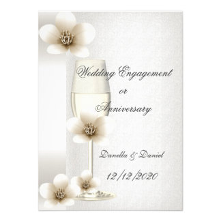 Wedding Engagement or Anniversary Blossoms Personalized Announcement
