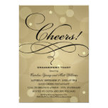 Wedding Engagement Party | Champagne Theme 13 Cm X 18 Cm Invitation Card