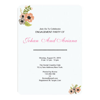 Wedding Engagement Party Invitation Card