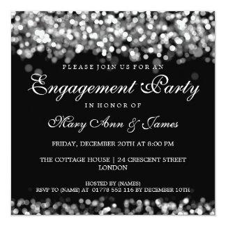 Wedding Engagement Party Silver Lights 13 Cm X 13 Cm Square Invitation Card