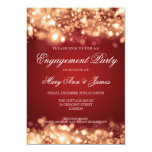 Wedding Engagement Party Sparkling Lights Gold 13 Cm X 18 Cm Invitation Card