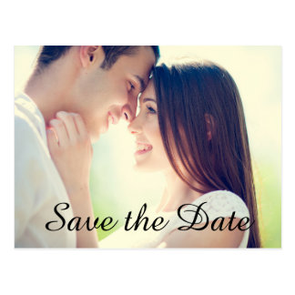 Wedding Engagement Photo Save the Date Postcard