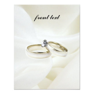 Wedding / Engagement Rings on Satin Card