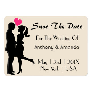 Wedding. Engagement. Save The Date Pack Of Chubby Business Cards