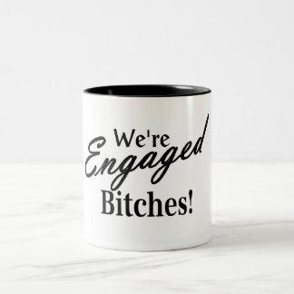 Wedding Engagement Two-Tone Mug