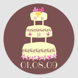 Wedding Envelope Seals Round Sticker