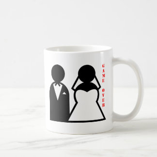 wedding equals game over basic white mug