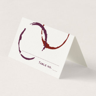 Wedding Escort Place Card | Wine Stain Rings