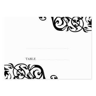 Wedding escort seating card custom print elegant pack of chubby business cards