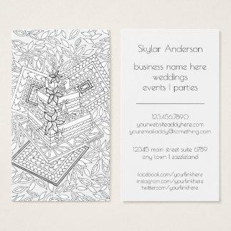 Wedding Event Planner Party Baker Cake Design Business Card