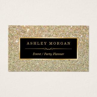 Wedding Event Planner - Sassy Beauty Gold Glitter Business Card