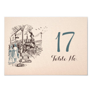 Wedding Express Table Number Card 9 Cm X 13 Cm Invitation Card
