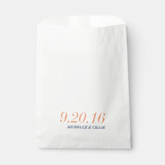 Wedding Favor Bag, Bold Typography Favour Bags