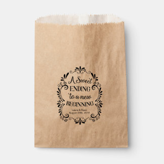 Wedding Favor Bag for Cookies A sweet ending Favour Bags