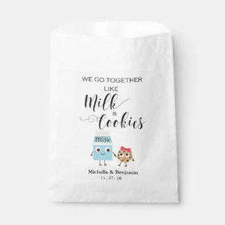 Wedding Favor Bag - We Go Together Cookies & Milk Favour Bags