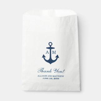 Wedding Favor Bags | Nautical Theme