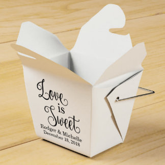 Wedding Favor Box - Love Is Sweet