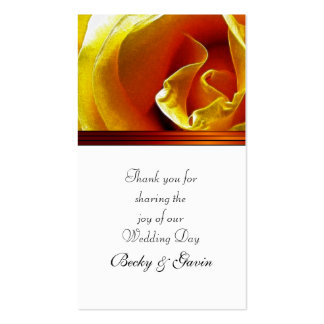 Wedding Favor Gift Tag Antique Yellow Rose Pack Of Standard Business Cards