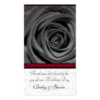 Wedding Favor Gift Tag Black Rose Pack Of Standard Business Cards