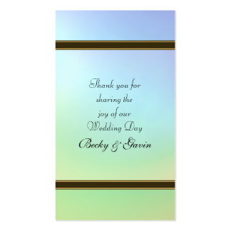 Wedding Favor Gift Tag Opalescent Rainbow Pack Of Standard Business Cards