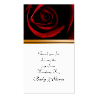 Wedding Favor Gift Tag Roses Are Red Pack Of Standard Business Cards