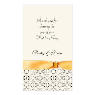 Wedding Favor Gift Tag Topaz Wedding Set Business Cards