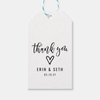 Wedding Favor Gift Tags Custom Thank You Heart