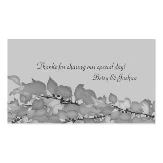 Wedding Favor Gift Tags Pack Of Standard Business Cards