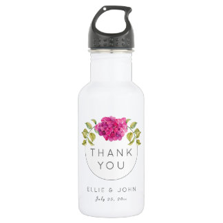 Wedding Favor Hot Pink Hydrangea 532 Ml Water Bottle