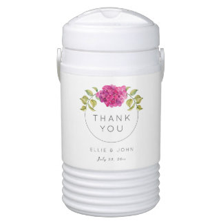 Wedding Favor Hot Pink Hydrangea Cooler