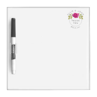 Wedding Favor Hot Pink Hydrangea Dry Erase Board