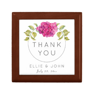 Wedding Favor Hot Pink Hydrangea Gift Box