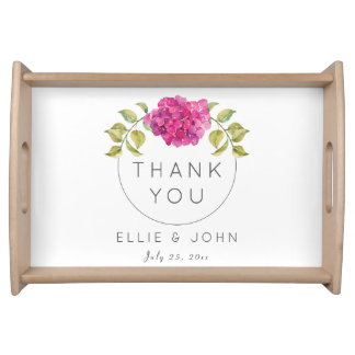 Wedding Favor Hot Pink Hydrangea Serving Tray