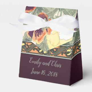 Wedding Favor in Purple Violets Favour Box