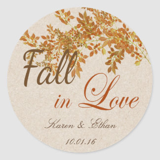Wedding Favor Label Fall in Love Theme
