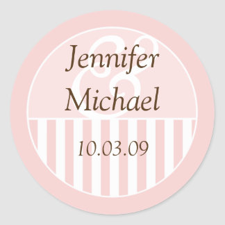 Wedding Favor Labels Round Sticker
