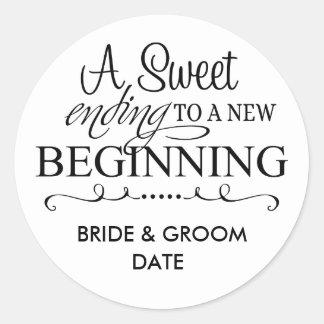WEDDING FAVOR STICKER A Sweet Ending