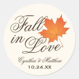Wedding Favor Sticker Fall in Love Theme