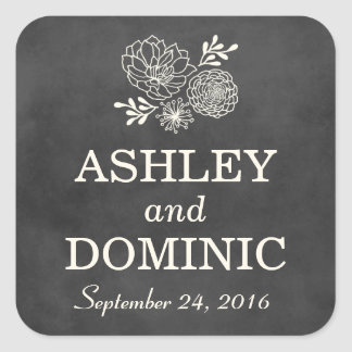 Wedding Favor Stickers | Vintage Chalkboard Style
