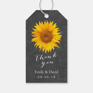 Wedding Favor Tag   Chalkboard Sunflower