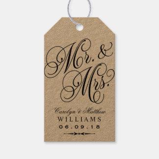 Wedding Favor Tag | Kraft Elegant Monogram