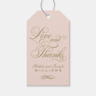 Wedding Favor Tag | Love and Thanks