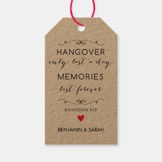 Wedding Favor Tags / Hangover Kit Tags